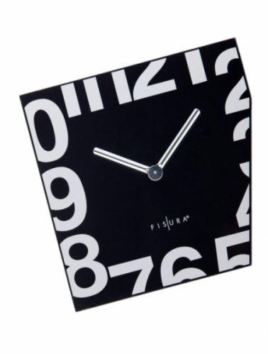 Fizúra nástenné hodiny Esquina Black 21cm