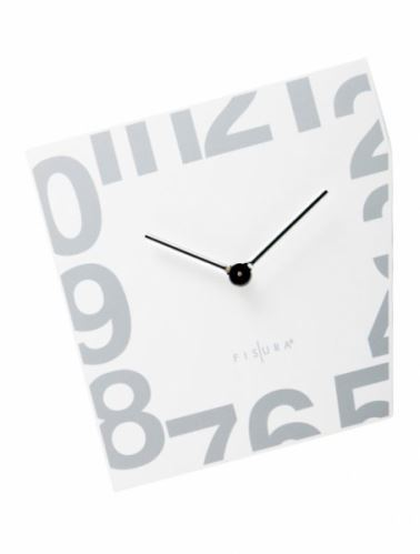 Fizúra nástenné hodiny Esquina White 21cm