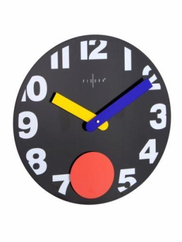 Fizúra nástenné hodiny Punto Black 40cm