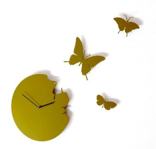 Dizajnové hodiny Diamantino & Domeniconi Butterfly green 40cm