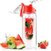 ASOBO dizajnová fresh fľašu s Infuser Flavour It červená 600ml