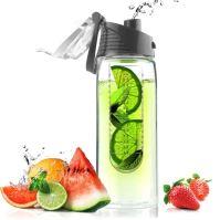 ASOBO dizajnová fresh fľašu s Infuser Flavour It sivá 600ml