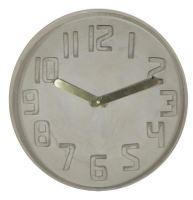Dizajnové nástenné kameninové hodiny CL0128 fisúry 35cm