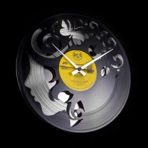 Dizajnové nástenné hodiny Discoclock 008SB Curly thoughts 30cm