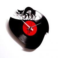 Dizajnové nástenné hodiny Discoclock 003 Curiosity killed the cat 30cm