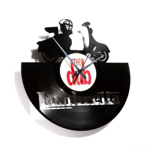 Dizajnové nástenné hodiny Discoclock 033 Lambretta 30cm