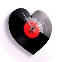 Dizajnové nástenné hodiny Discoclock 044 Heart 30cm