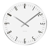 Dizajnové stolové aj nástenné hodiny 5615WH Karlsson 17cm