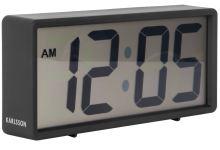 Digitálne stolové i nástenné hodiny / budík 5646BK Karlsson 18cm