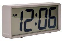Digitálne stolové i nástenné hodiny / budík 5646GY Karlsson 18cm
