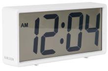 Digitálne stolové i nástenné hodiny / budík 5646WH Karlsson 18cm