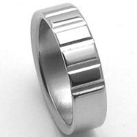 Pánsky oceľový snubný prsteň RZ86009