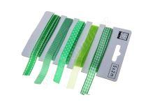 Zelený set textilních stuh 1,1cm x 2m 5ks