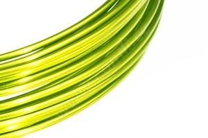 Dekoračné drôt hliníkový - citrónový