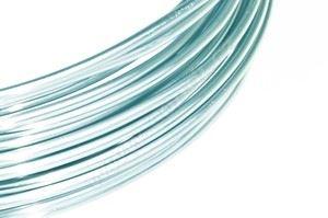 Dekoračné drôt hliníkový - pastelovo modrý