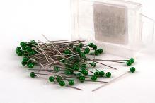 Dekoračné špendlík do klopy 55mm zelený