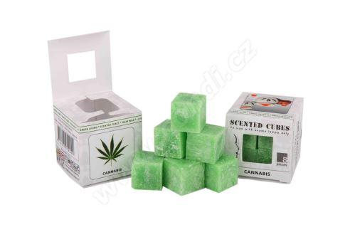 Vonný vosk do aromalamp - cannabis, 8ks vonných kostiček (konopí)