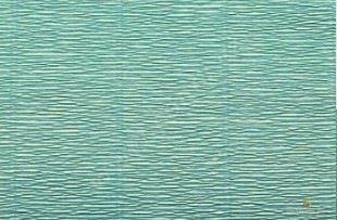 Krepový papier role 50cm x 2,5m - azúrový 17E / 3