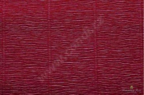 Krepový papír role 50cm x 2,5m -  bordeaux 588