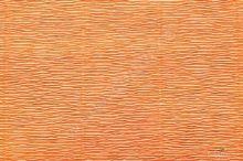Krepový papír role 50cm x 2,5m - tm. Oranžová 581