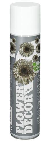 Farba v spreji na živé kvety 400ml FLOWER DECOR - strieborná 10081