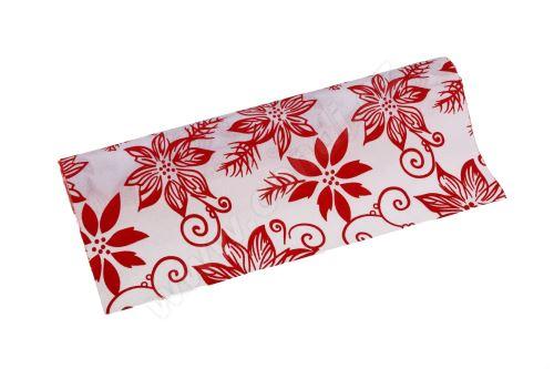 Vianočný polyjutová role 28cm x 3m AJ1544 1-biela / červená