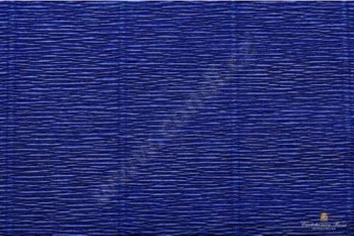 Krepový papír role 50cm x 2,5m - švestkově modrý 555