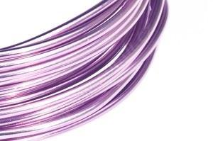 Dekoračné drôt hliníkový - levanduľový