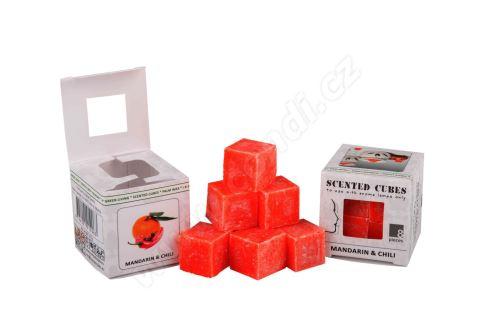 Vonný vosk do aromalamp - mandarin & chili, 8ks vonných kostiček (mandarinka & chilli)