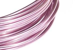 Dekoračné drôt hliníkový - ružový
