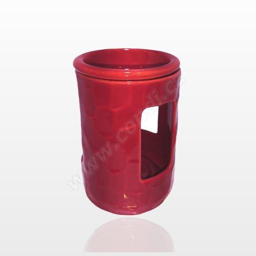 Aromalampa REVAL CERAMIC červená - pre vonné vosky Scented Cubes
