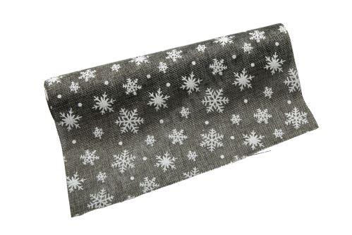Vianočný jutová role 28cm x 3m 3 - sivá / biela