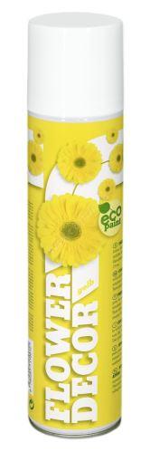 Farba v spreji na živé kvety 400ml FLOWER DECOR - žltá 11001