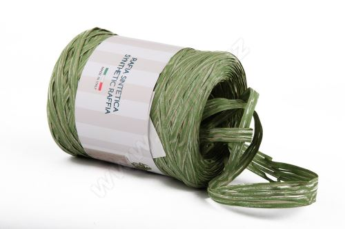 Stuha poly rafie žebrovaná 68181 5mm x 200m - 11 zelená
