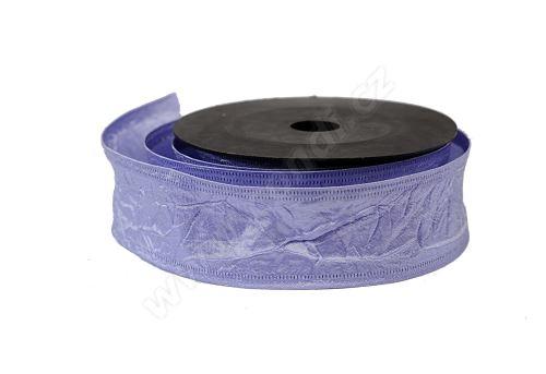 Stuha textilní mačkaná 4cm x 9,1m 114-SV. FIALOVÁ