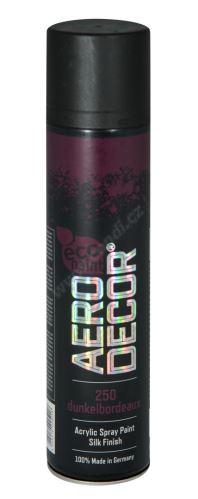 Farba v spreji 400ml AERO DECOR - tmavá bordová 250