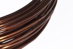 Dekoračné drôt hliníkový - hnedý