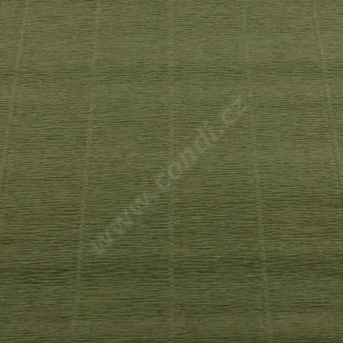 Krepový papier role 50cm x 2,5m - zelený 612