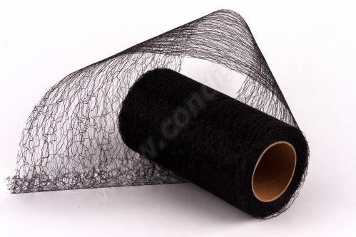 Dekorativní tkanina Fibre 12cm x 9,1m ČERNÁ