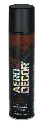 Farba v spreji 400ml AERO DECOR - zlatohnedá 420
