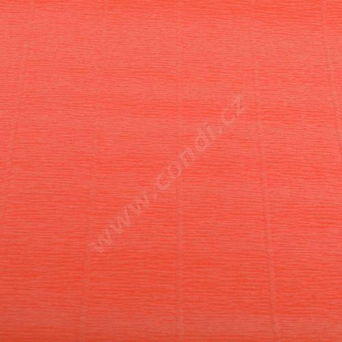 Krepový papier role 50cm x 2,5m - lososový 617