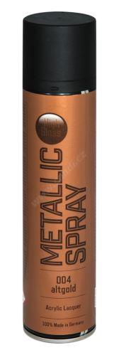 Farba v spreji metalická s vysokým leskom 400ml METALIC SPRAY - anticky zlatá 004