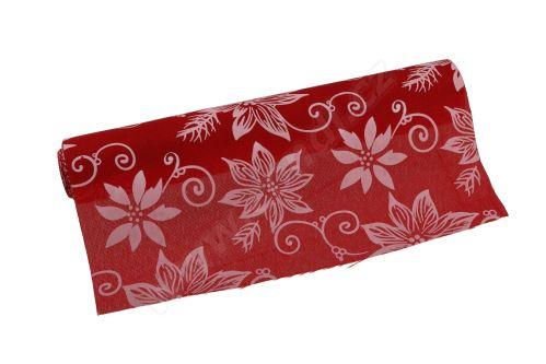 Vianočný polyjutová role 28cm x 3m AJ1544 2-červená / biela
