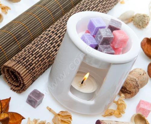 Vonnný vosk do aromalamp - violet (fialka), 8ks vonných kostiček