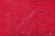 Krepový papír role 50cm x 2,5m - tm. červená 586