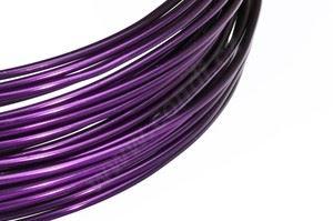 Dekoračné drôt hliníkový - baklažán