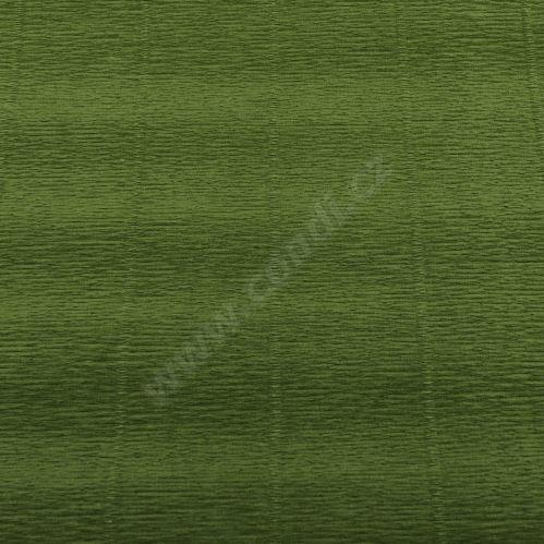 Krepový papier role 50cm x 2,5m - zelený 622