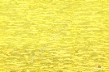 Krepový papír role 50cm x 2,5m - žlutá 575