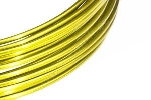 Dekoračné drôt hliníkový - žltý