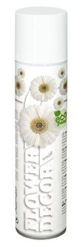 Farba v spreji na živé kvety 400ml FLOWER DECOR - biela 18001